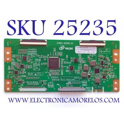 T-CON PARA TV RCA NUMERO DE PARTE AE0140787 / DCBDS-B260B-02 / HV430QUB-H10V1.2 / P2017820L599 / PANEL HV430QUB-H10 / MODELO RTU4300