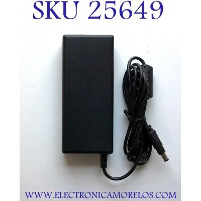 ADAPTADOR LITEON NUMERO DE PARTE 4019611B / LIN15210234 / 100-120V ~ 1A 60HZ / 12V 2.5A 30W MAX / MODELO PB-1300-02SA-ROHS
