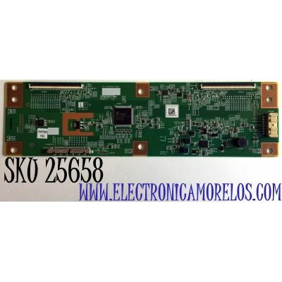 T-CON PARA TV ONN / NUMERO DE PARTE RUNTK0529FVZA / 1P-1207C00-40SA / E-SV7A014470 / E253117 / PANEL JE695R3HB9L / MODELO 100012589