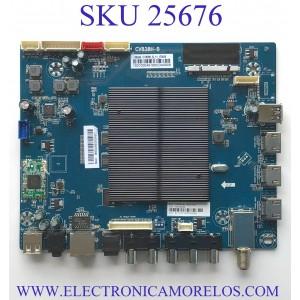 MAIN PARA TV ELEMENT SMART TV / NUMERO DE PARTE 103100048 / CV838H-B / CV838H_B_11_170818 / 7.D838HB110000.0E0 / E18121-SY / E254667 S / H2E03104A0 / PANEL CV500U1-T01 / MODELO E4STA5017