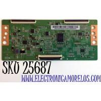 T-CON PARA TV SCEPTRE / NUMERO DE PARTE 260162003350 / PT550GT01-1-C-1 / 2601620033500G12MEH02M036530 / PANEL'S HK550WLEDM-JH0GH / PT550GT01-01 / MODELOS G55 / A558CV-U