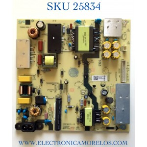 FUENTE DE PODER PARA TV JVC·ROKU TV 4K UHD SMART TV / NUMERO DE PARTE TV5006-ZC02-02 / E021M431-I2 / E021M431-12 / E168066 / PANEL CC500PV7D VER.03 / MODELO LT-50MAW705 / ((NOTA IMPORTANTE:CHECAR QUE EL PANEL Y MODELO CORRESPONDA CON SU TELEVISION))