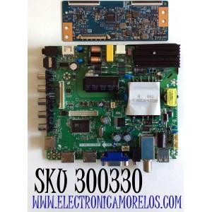 KIT DE TARJETAS PARA TV ELEMENT / NUMERO DE PARTE MAIN FUENTE H17051168 / TP.MS3393.PB801 / NUMERO DE PARTE T-CON 5550T15C07 / 55.50T15.C07 / T500HVN07.5 / PANEL T500-V35-DLED / MODELO ELFW5017