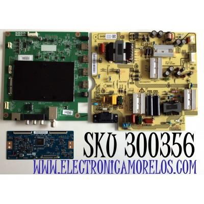 KIT DE TARJETAS PARA TV TOSHIBA 4K UHD SMART FIRE TV / NUMERO DE PARTE MAIN 631V0Q000E0 / VTV-L55736 / 691V0Q000E0 / T-CON 55.55T32.C28 / 5555T32C28 / 55T32-C0L / FUENTE 1T920000900 / FSP164-2FS01 / 3BS0469504GP / PANEL K550WDCRA / MODELO 55LF621U21