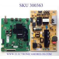 KIT DE TARJETAS PARA TV SAMSUNG SMART TV SAMSUNG 4K UHD CON HDR / NUMERO DE PARTE MAIN BN94-15274G / BN41-02756A / BN97-16662X / DFVC1952 / BN41-02756A-000 / FUENTE BN44-01054A / BN4401054A / L55S6_TDY / PANEL CY-BT055HGHV1H / MODELO UN55TU8000FXZA CB01