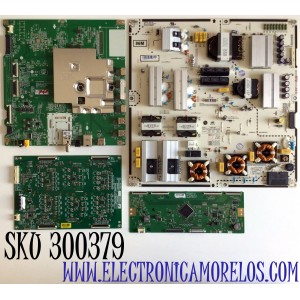 KIT DE TARJETAS PARA TV LG NANOCELL  4K UHD SMART TV / NUMERO MAIN EBT66457001 / EAX68990205 / T-CON 6871L-6102A / 6870C-0834A / DRIVER EBR89830601 / EPLH90WA1A / JAC04-0245A-P1 / FUENTE EAY65169951 / B12J059951 / LGP86M-19SP / MODELO 86NANO90UNA.BUSWLJR