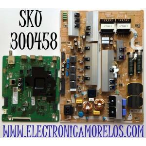 KIT DE TARJETAS PARA TV SAMSUNG MAIN BN94-15735E / BN41-02756C / BN97-17204Y / FUENTE BN44-01065A / L82E8N_THS / BN4401065A / PANEL CY-RT082HGLV1H / MODELO QN82Q6DTAFXZA FA01