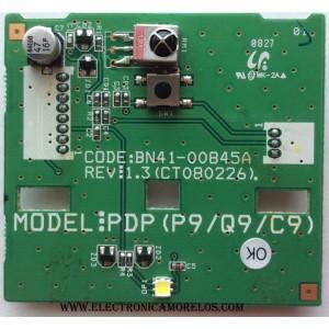BOTON POWER CON IR SENSOR / PARA TV / SAMSUNG BN96-07666B / BN41-00845A / 07666B / MODELO PL42A410C1DXZX BF09