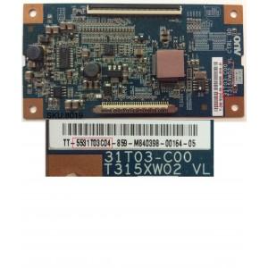 T-CON / DYNEX 55.31T03.C04 / 31T03-C00 / 5531T03C04 / T315XW02 VL CTRL BD / MODELO DX-L321-10A