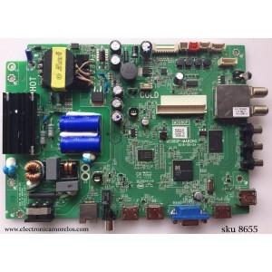 MAIN / FUENTE (COMBO) / TCL V8-0MS08GP-LF1V030 / 40-MS08GP-MAB2HG / IFE120259F / MS08GP / ESTAS TARJETAS SON CHINAS Y LAS UTILIZAN VARIAS MARCAS Y MODELOS, SEÑALARE SOLO ALGUNAS MARCAS / TCL / HKPRO / SANYO / FUSION / PIONEER