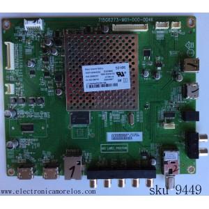 MAIN / VIZIO 756TXDCB02K054 / TXDCB02K0540004 / 715G6273-M01-000-004K / MODELO E390I-B1 LTY6PSAP / PANEL TPT390J1-HJ1L02 REV:SCAC